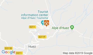 Map Alpe d'Huez Studio apartment 112804
