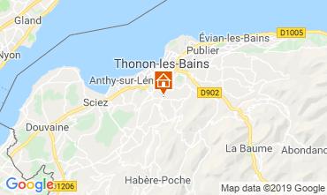 Map Thonon Les Bains Apartment 113619
