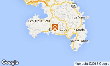 Map Sainte Luce Studio apartment 69054