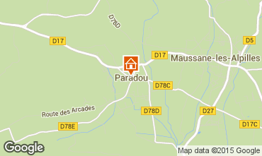 Map Maussane les Alpilles Self-catering property 97000
