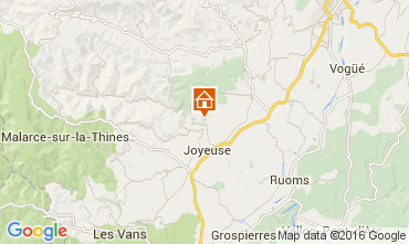 Map Joyeuse Self-catering property 90730