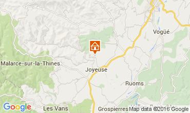 Map Joyeuse Self-catering property 90730