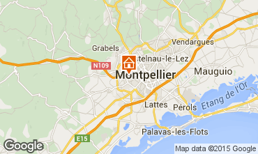 Map Montpellier Villa 76051