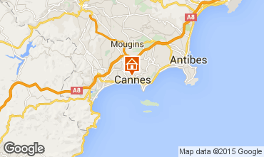 Map Cannes Studio apartment 84968