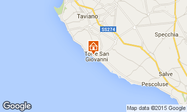 Map Ugento - Torre San Giovanni Apartment 32426