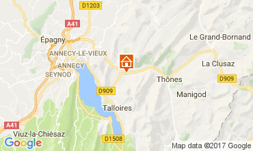 Map Annecy Chalet 112362