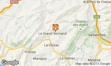 Map Le Grand Bornand Apartment 1360