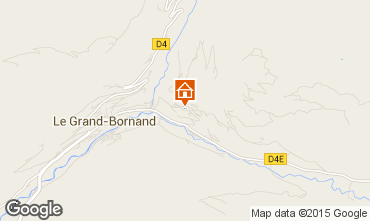 Map Le Grand Bornand Apartment 1360