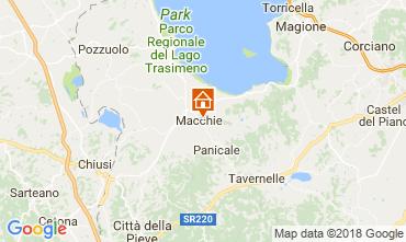 Map Castiglione del Lago Apartment 108079