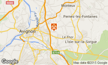 Map Avignon Self-catering property 83431