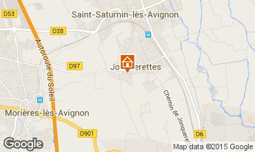 Map Avignon Self-catering property 83431