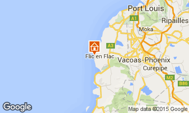 Map Flic-en-Flac Apartment 73918