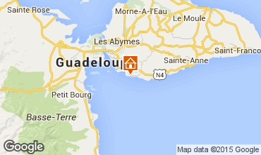 Map Gosier (Guadeloupe) Studio apartment 82219