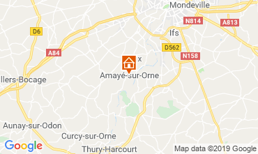 Map Caen Self-catering property 97863