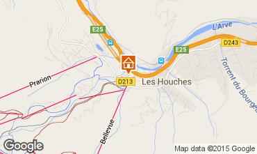 Map Chamonix Mont-Blanc Apartment 22897