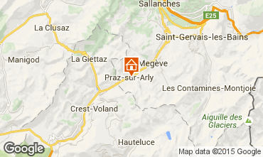 Map Praz sur Arly Apartment 91332