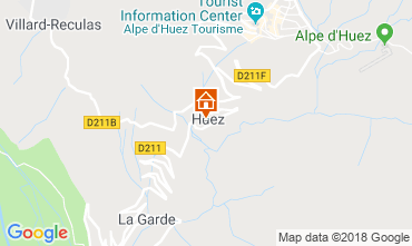 Map Alpe d'Huez Apartment 116741