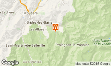 Map Courchevel Chalet 58837