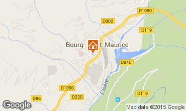 Map Bourg saint Maurice Apartment 75709