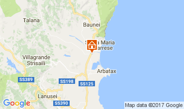 Map Lotzorai Apartment 111747