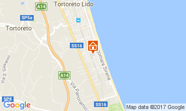 Map Tortoreto Apartment 77121