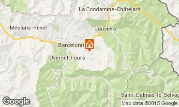 Map Le Sauze Apartment 58808