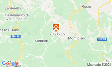 Map San Gimignano Apartment 73261