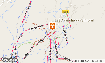 Map Valmorel Apartment 27090
