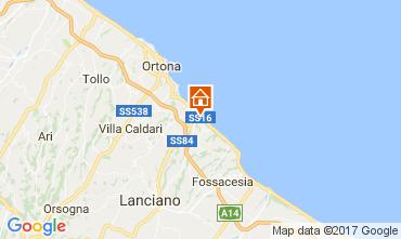 Map San Vito Chietino Apartment 69058