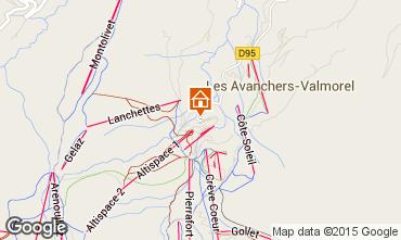 Map Valmorel Apartment 3498