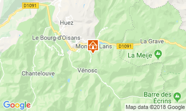 Map Les 2 Alpes Apartment 117522