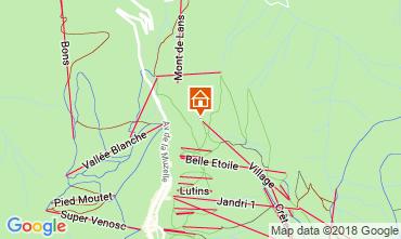 Map Les 2 Alpes Apartment 117522