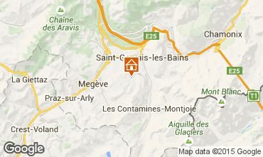 Map Saint Gervais Mont-Blanc Apartment 74085