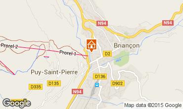 Map Briançon Apartment 71390