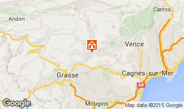 Map Cannes Villa 81732