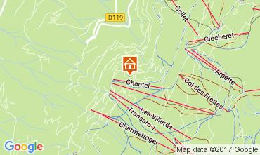 Map Les Arcs Apartment 111955
