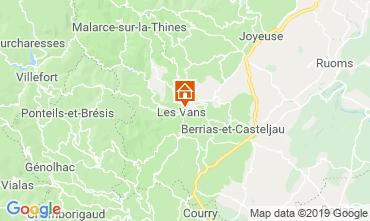 Map Les Vans Self-catering property 119245