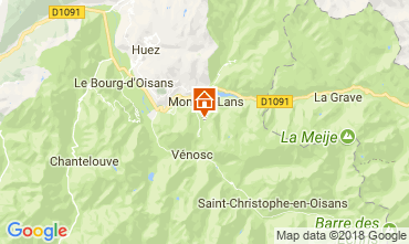 Map Les 2 Alpes Apartment 101201