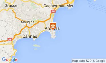 Map Antibes Apartment 105595
