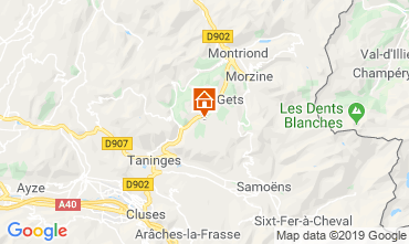 Map Les Gets Chalet 104727