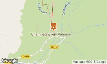 Map Champagny en Vanoise Chalet 575
